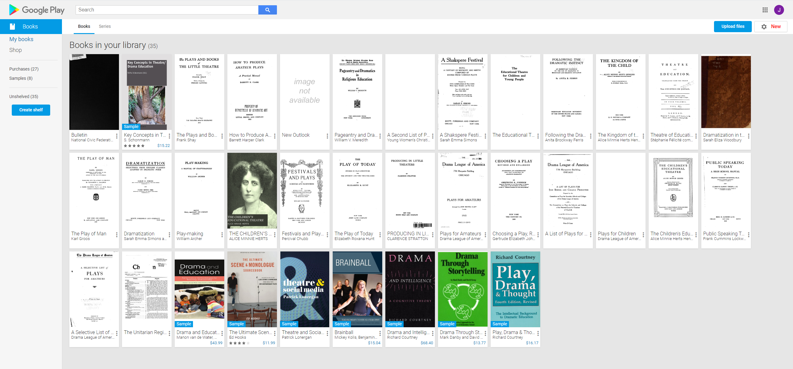 Google Books Library Screenshot